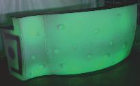 große LED-Bar beleuchtet