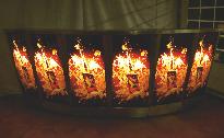 gebogene Designer-Bar komplett beleuchtet