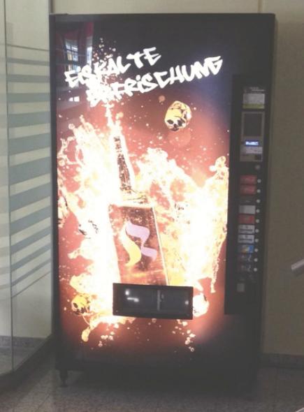 Kaltgetränkeautomat Werbe-Front